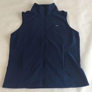 Vineyard Vines Navy Fleece Vest Sz Medium Blue